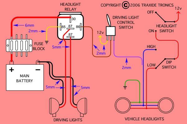 Light Bar Wiring Diagram High Beam from www.aulro.com