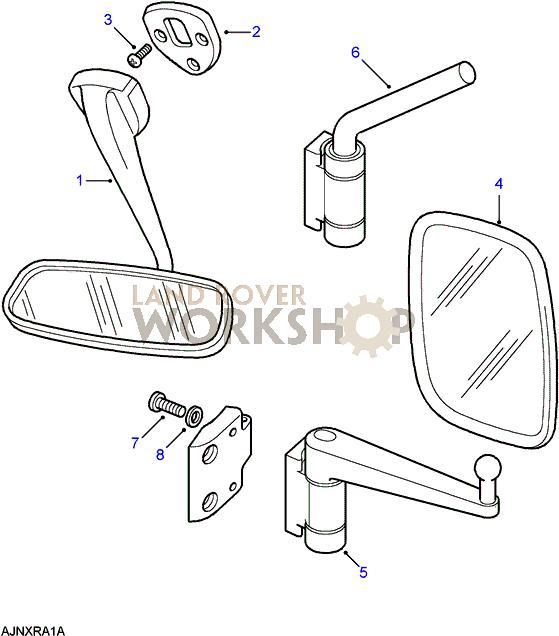 defender td5 2004 mirror bracket thread